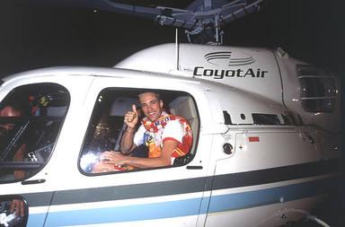 Ismael Beiro llegó al plató de Gran Hermano en helicóptero después de proclamarse ganador
