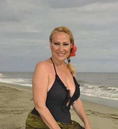 Rosa Benito durante su participación en Supervivientes 2011, espacio que ganó