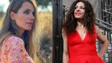 Vanesa Romero apoya a su compañera, Cristina Medina