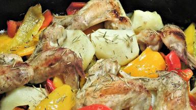 Pollo pimientos