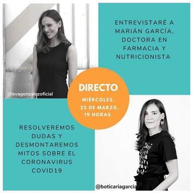 Eva González hace un directo en su Instagram