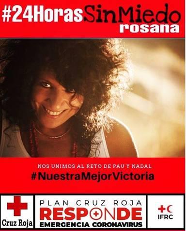 Rosana organiza un maratón de 24 horas para ayudar a Cruz Roja en la lucha contra el coronavirus