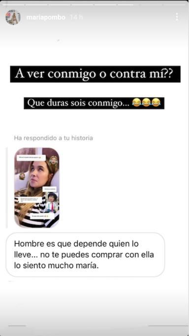 Respuestas a María Pombo