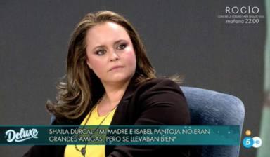 Shaila Dúrcal se pronuncia en directo sobre la guerra entre Isabel Pantoja y Kiko Rivera