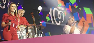 Actuación de Clean Bandit en CADENA 100 Por Ellas 2018