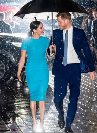 Harry y Meghan a su llegada a la Londons Mansion House