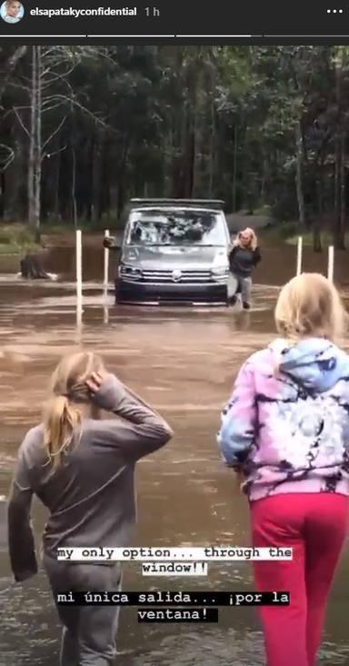 El susto de los hijos de Elsa Pataky al verla atrapada en el coche