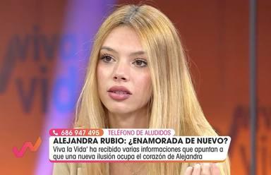 Alejandra Rubio, muy seria ante la posibilidad de que se desvele la identidad de su nuevo amor