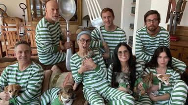 Bruce Willis y Demi Moore junto a sus hijas en la cuarentena