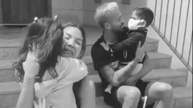 Tamara Gorro y Ezequiel Garay se reencuentran con sus hijos