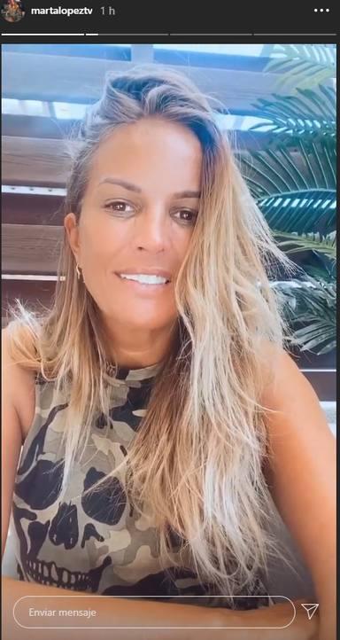 Marta López vuelve al trabajo
