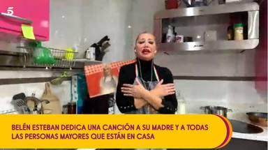 Belén Esteban se atreve a cantar un tema de Manolo Escobar en Sávame dedicado a su madre