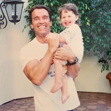 La felicitación de Katherine Schwarzenegger a su marido y su padre