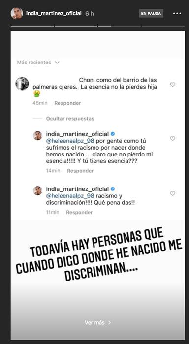 India Martínez responde a sus haters