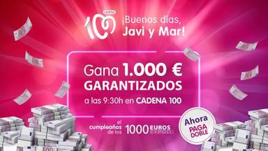 ¡Vuelve El Cumpleaños de los 1.000 euros de CADENA 100 cargado de sorpresas!