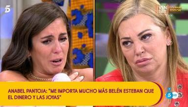 Anabel Pantoja y Belén Esteban estallan en lágrimas y sellan su amistad con un abrazo