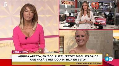 'Socialité' consigue las primeras declaraciones de la hija de Ainhoa Arteta
