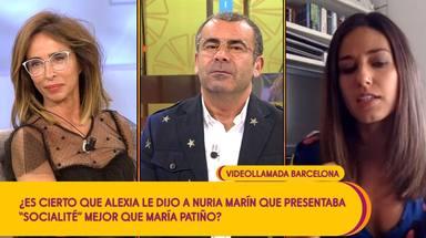 Nuria Marín desvela en Sálvame el contenido de su conversación con Alexia Rivas