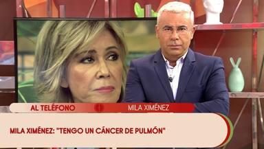 Jorge Javier durante el anuncio de Mila Ximénez