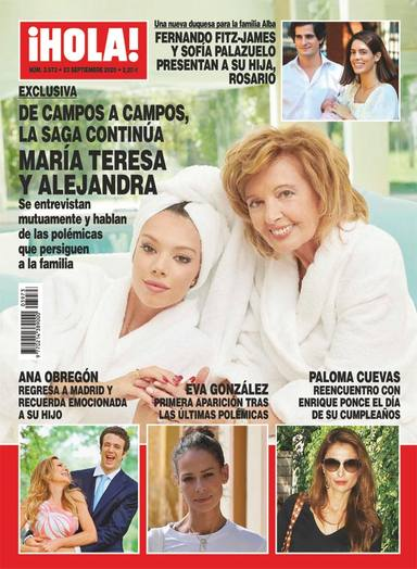 Exclusiva: María Teresa Campos y Alejandra Rubio