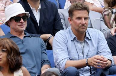 Brad Pitt y Bradley Cooper juntos en la final del US Open 2021