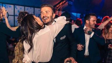 Los Beckham de fiesta