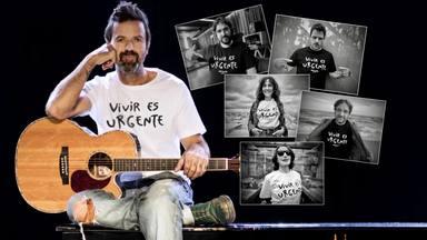 Varios amigos de Pau Donés con la camiseta 'Vivir es urgente' para continuar en su lucha contra el cáncer