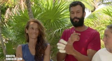 Jorge se quema los dedos con una olla en Supervivientes