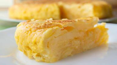 Tortilla de patatas fit para la cuarentena