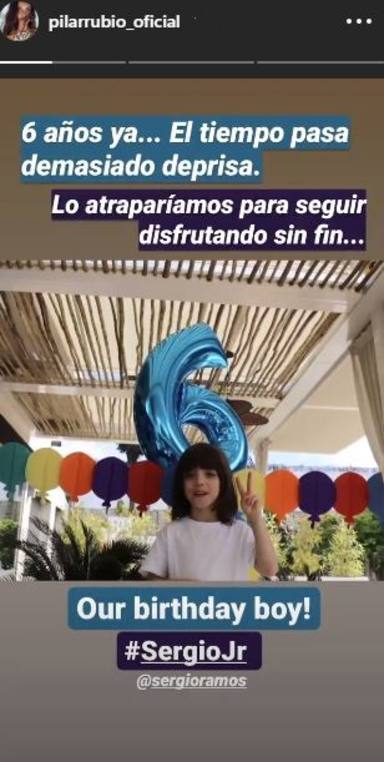 Sergio Jr, el hijo mayor de Sergio Ramos y Pilar Rubio, muy feliz en su cumpleaños