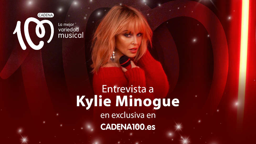 Kylie Minogue en exclusiva para CADENA100.es, presenta 'Say Something'