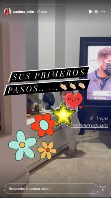 Los primeros pasos de Vega, la hija de Pastora Soler