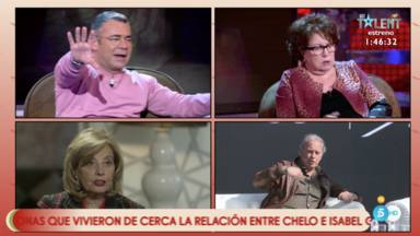 Bertín Osborne entra en directo en 'Sálvame' intentando poner paz entre Isabel gemio y María Teresa Campos