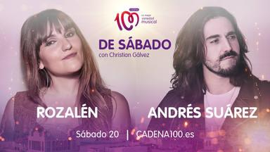 Rozalén y Andrés Suárez invitados de lujo a la fiesta 'De Sábado con Christian Gálvez'