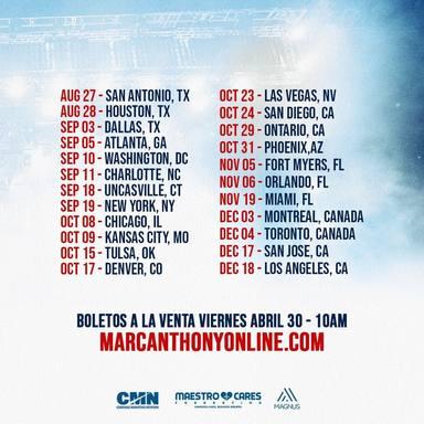 Marc Anthony: Palla voy tour
