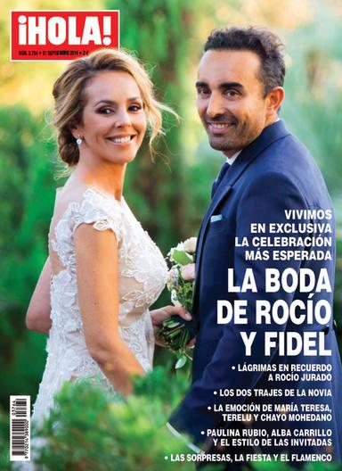 Portada de la revista Hola boda Rocío Carrasco y Fidel Albiac