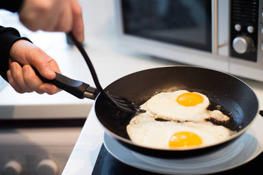 Huevo frito con puntillita