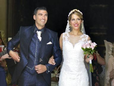 José Antonio Reyes y Noelia López en el día de su boda