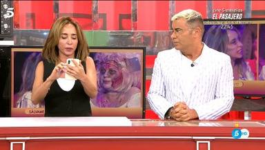 Jorge Javier Vázquez regaña a María Patiño por haber bloqueado a Terelu en whatsapp