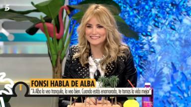 """La mirada de Alba Carrillo le delata al hablar sobre Fonsi Nieto: """"Estoy contenta"""""""