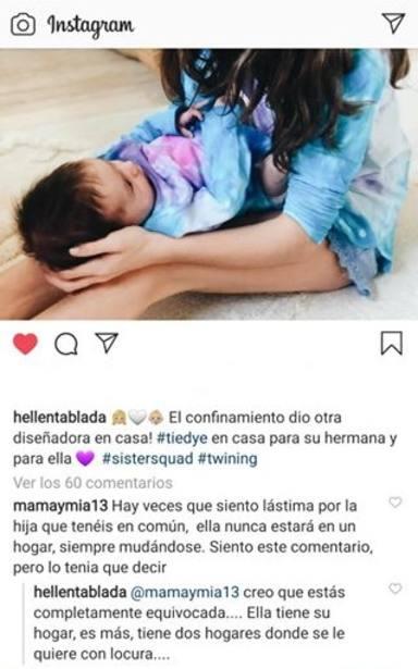 Elena Tablada responde a una usuaria que cuestiona la felicidad de su hija Ella