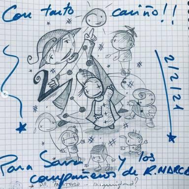 Dibujo de David Cantero a Sara Carbonero