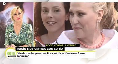 Rosa Benito se posiciona al lado de Rocío Carrasco