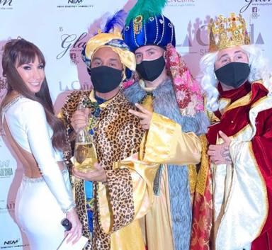 Fani Carbajo, Omar Montes y Kiko Rivera como Reyes Magos