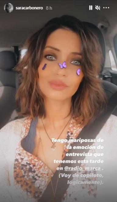 Sara Carbonero vuelve al trabajo tras su operación con mariposas en el estómago