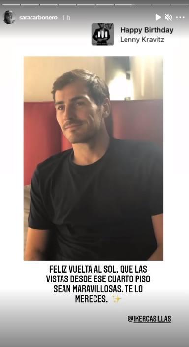 Imagen de la felicitación de Sara Carbonero a Iker Casillas por su 40 cumpleaños