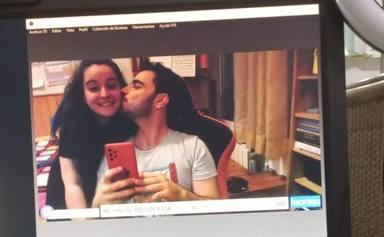 Pablo Díaz junto a su novia, Marta, a la que conoció gracias a 'Pasapalabra'