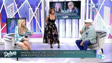 Arévalo y Malena Gracia se enzarzan en el Deluxe en su cara a cara tras la ruptura como pareja