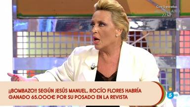 Lydia Lozano, boquiabierta al descubrir el dinero que ha cobrado Rocío Flores por su exclusiva