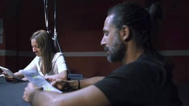 Hugo Silva y Michellle Jenner se reencuentran en la lectura de guion de 'Los hombres de Paco'